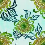 Λουλούδια και φύλλα του χρυσάνθεμου διάνυσμα η κάρτα φθινοπώρου εύκολη επιμελείται τις διακοπές λουλουδιών τροποποιεί στο διάνυσμ Στοκ φωτογραφίες με δικαίωμα ελεύθερης χρήσης