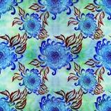 Λουλούδια και φύλλα του χρυσάνθεμου η κάρτα φθινοπώρου εύκολη επιμελείται τις διακοπές λουλουδιών τροποποιεί στο διάνυσμα waterco Στοκ φωτογραφία με δικαίωμα ελεύθερης χρήσης