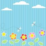 λουλούδια καρτών Στοκ εικόνες με δικαίωμα ελεύθερης χρήσης