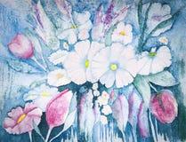 Λουλούδια κρητιδογραφιών Στοκ Εικόνες