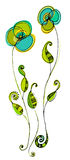λουλούδια που διευκ&rho Στοκ εικόνα με δικαίωμα ελεύθερης χρήσης