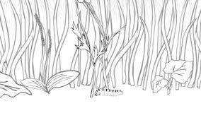 Λουλούδια που προστατεύουν μια μια άλλη ζωτικότητα κινούμενων σχεδίων απεικόνιση αποθεμάτων
