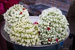 Λουλούδια που συνδέονται και που χρησιμοποιούνται ως αρωματισμένα στολισμοί τρίχας Στοκ Φωτογραφίες