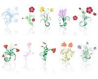λουλούδια που τίθεντα&iot ελεύθερη απεικόνιση δικαιώματος