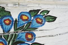 λουλούδια που χρωματίζ&o Στοκ φωτογραφία με δικαίωμα ελεύθερης χρήσης