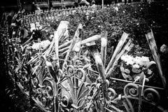 Λουλούδια προς τιμήν ενάντια στην τρομοκρατία στοκ φωτογραφίες