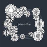 Λουλούδια 1silhouettes των άσπρων λουλουδιών υπό μορφή τετραγωνικού πλαισίου Στοκ φωτογραφίες με δικαίωμα ελεύθερης χρήσης