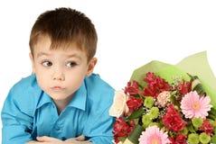 λουλούδι αγοριών ανθο&delt Στοκ φωτογραφία με δικαίωμα ελεύθερης χρήσης