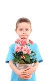 λουλούδι αγοριών σε δ&omicron Στοκ φωτογραφία με δικαίωμα ελεύθερης χρήσης