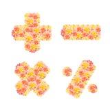 λουλούδι αλφάβητου Στοκ Εικόνα