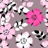 λουλούδι ανασκόπησης άνευ ραφής διανυσματική απεικόνιση