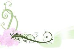 Λουλούδι και ανασκόπηση στροβίλου Στοκ Εικόνα
