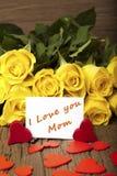 Λουλούδι και μια κάρτα στοκ εικόνες