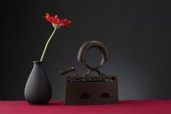λουλούδι και παλαιός σίδηρος Στοκ φωτογραφία με δικαίωμα ελεύθερης χρήσης