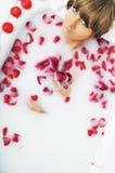 Λουλούδι λουτρών γυναικών Στοκ Φωτογραφία