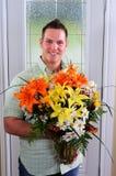 λουλούδι παράδοσης Στοκ Εικόνες
