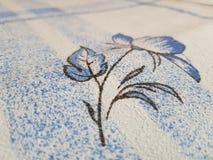 Λουλούδι στο duvet στοκ φωτογραφίες