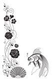 λουλούδι ψαριών διανυσματική απεικόνιση