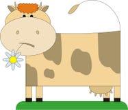 λουλούδι 2 αγελάδων διανυσματική απεικόνιση