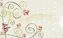 λουλούδι grunge αγροτικό διανυσματική απεικόνιση