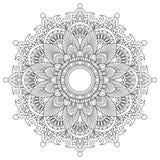 Λουλούδι Mandala διακοσμητικός τρύγος στ&o Ασιατικό σχέδιο, διανυσματική απεικόνιση Ισλάμ, Αραβικά, Ινδός, μαροκινά ελεύθερη απεικόνιση δικαιώματος