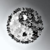 λουλούδι yang yin Στοκ Εικόνες