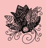 Λουλούδι Zentangle στοκ εικόνες