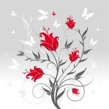 λουλούδια πεταλούδων Στοκ Εικόνες