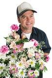 λουλούδι παράδοσης φιλικό Στοκ εικόνα με δικαίωμα ελεύθερης χρήσης