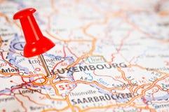 λουξεμβούργιος χάρτης Στοκ Φωτογραφία