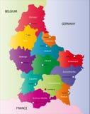 Λουξεμβούργιος χάρτης διανυσματική απεικόνιση