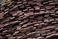 Λουρίδα σχεδιαγράμματος μετάλλων στα πακέτα στην αποθήκη εμπορευμάτων των προϊόντων μετάλλων Στοκ Εικόνες