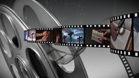 Λουρίδα ταινιών με τα διαφορετικά βίντεο ελεύθερη απεικόνιση δικαιώματος