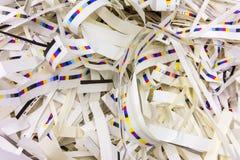 Λουρίδες Γ υποβάθρου βιομηχανίας εκτύπωσης αποβλήτων CMYK γαρνιτουρών εγγράφου στοκ φωτογραφία με δικαίωμα ελεύθερης χρήσης