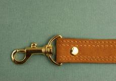 Λουρί δέρματος με το carabiner Στοκ φωτογραφία με δικαίωμα ελεύθερης χρήσης