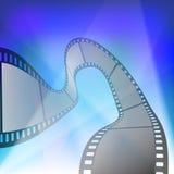 Λουρίδα ταινιών στις ακτίνες των προβολέων Στοκ φωτογραφίες με δικαίωμα ελεύθερης χρήσης