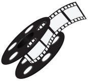 Λουρίδα ταινιών στο εξέλικτρο απεικόνιση αποθεμάτων