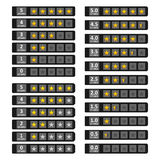 Λουρίδες με τα χρυσά αστέρια Στοκ εικόνα με δικαίωμα ελεύθερης χρήσης