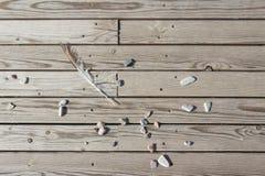 Λουρίδες του ξύλου με τις πέτρες και το φτερό στοκ εικόνα με δικαίωμα ελεύθερης χρήσης