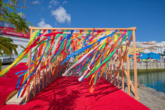 Λουρίδες χρώματος, Angra do Heroismo, νησί Terceira, Αζόρες Στοκ Εικόνα