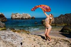 λουρί κοριτσιών suimsuit Στοκ εικόνα με δικαίωμα ελεύθερης χρήσης
