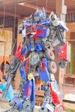 ΛΟΥΡΊ ANG, ΤΑΪΛΆΝΔΗ - 3 ΑΠΡΙΛΊΟΥ: Το πρωταρχικό ρομπότ Optimus φιαγμένο από Στοκ φωτογραφίες με δικαίωμα ελεύθερης χρήσης