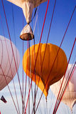 Λουριά μπαλονιών ζεστού αέρα Στοκ Εικόνες