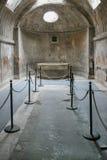 Λουτρά Pompeian Πομπηία (Νάπολη - Ιταλία) Στοκ φωτογραφία με δικαίωμα ελεύθερης χρήσης