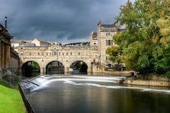Λουτρό Αγγλία γεφυρών Pulteny Στοκ Εικόνες