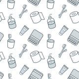 Λουτρό και άνευ ραφής σχέδιο υγιεινής επίσης corel σύρετε το διάνυσμα απεικόνισης Στοκ Εικόνες