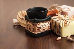 Λουτρό και aromatherapy εξαρτήματα Στοκ φωτογραφία με δικαίωμα ελεύθερης χρήσης
