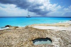 λουτρό Καραϊβικές Θάλασ&sigma Στοκ εικόνα με δικαίωμα ελεύθερης χρήσης