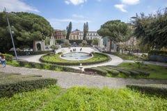 Λουτρό Κύκνος (πηγή) Giardino Bellini, Κατάνια, Σικελία Ιταλία Στοκ Εικόνα