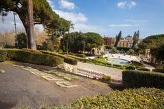 Λουτρό Κύκνος (πηγή) Giardino Bellini, Κατάνια, Σικελία Ιταλία Στοκ Εικόνες